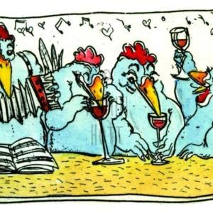 Da feiern ja die Hühner!