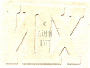 Armin Hott - NIX (geprägter Text)