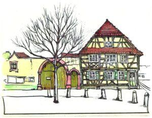Armin Hott - Barbelroth Fachwerkhaus (coloriert)