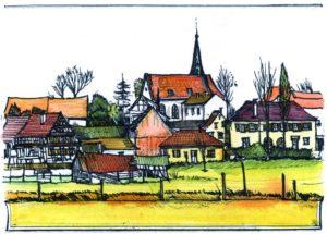 Armin Hott - Barbelroth Ortsansicht (coloriert)