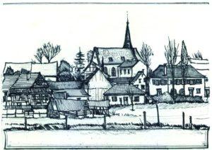 Armin Hott - Barbelroth Ortsansicht (sw)