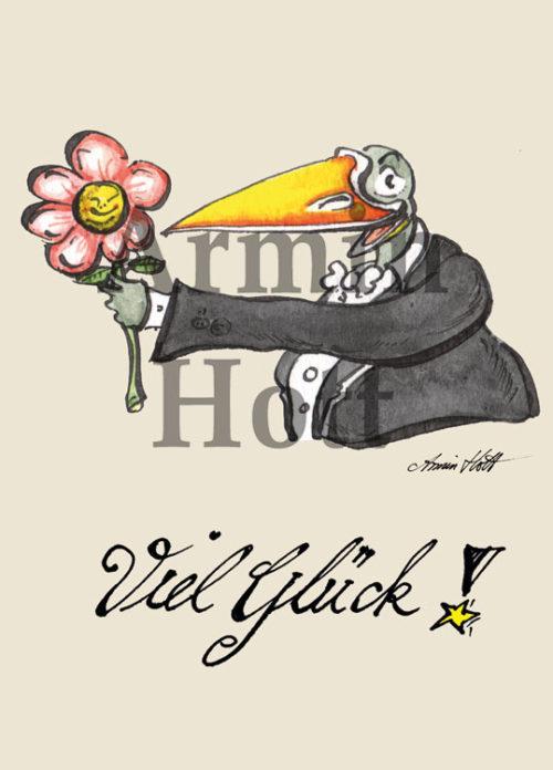 Armin Hott - Karte Viel Glueck