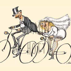 Karte Hochzeit Fahrrad