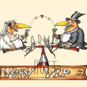 Karte Hochzeit Very VIP