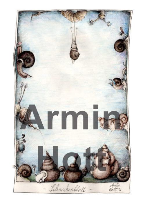 Armin Hott Postkarte - 2021_Postkarten_Schneckenblatt