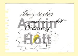 Armin Hott Postkarte - 2021_Postkarten_Staendigsuchenistauch